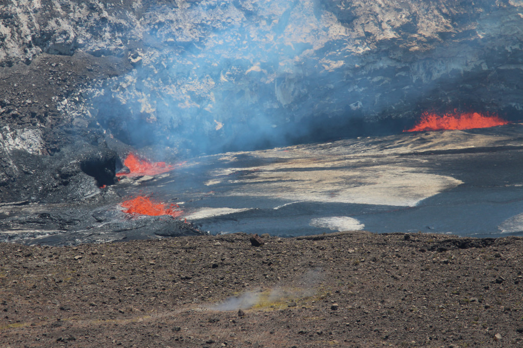 Lava in Kilauea Crater, Hawaii crater