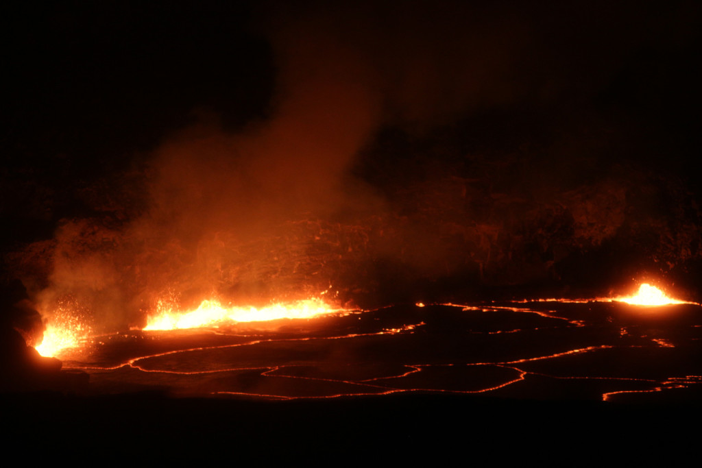 Lava in Kilauea crater in Hawaii